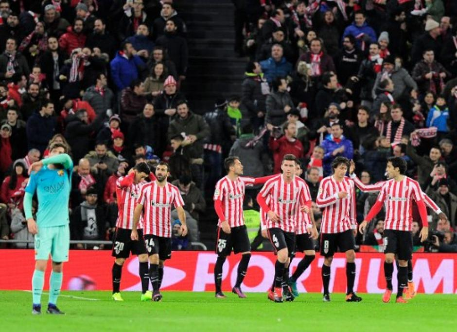 El Bilbao venció 2-1 a Barcerlona. (Foto: AFP)