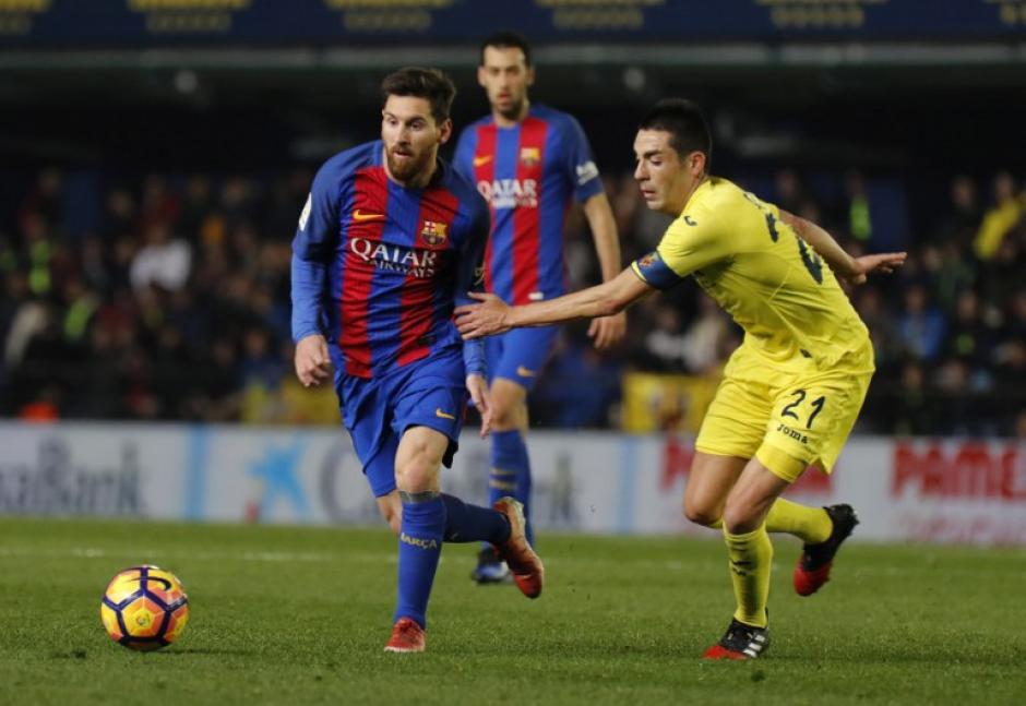 Messi rescató el empate para el Barcelona frente al Villarreal. (Foto: AFP)