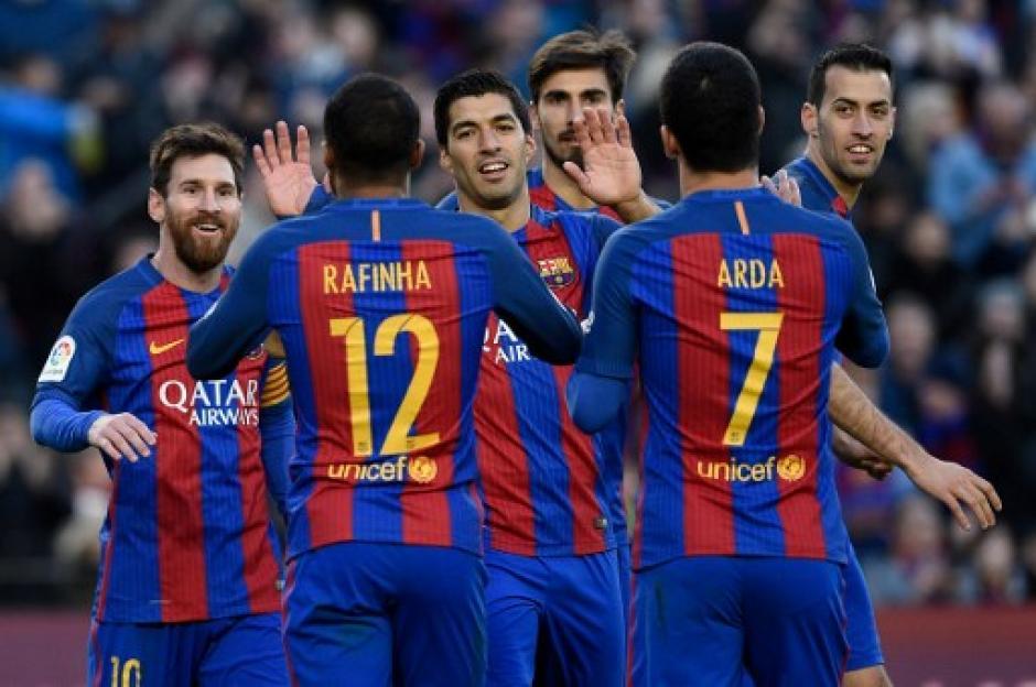 El FC Barcelona trepó momentáneamente al segundo lugar de La Liga. (Foto: AFP)