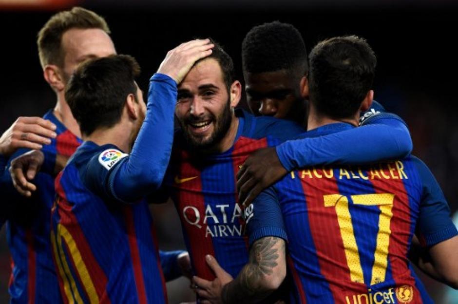 Los goles estuvieron a cargo de Suárez, Turan y Vidal. (Foto: AFP)