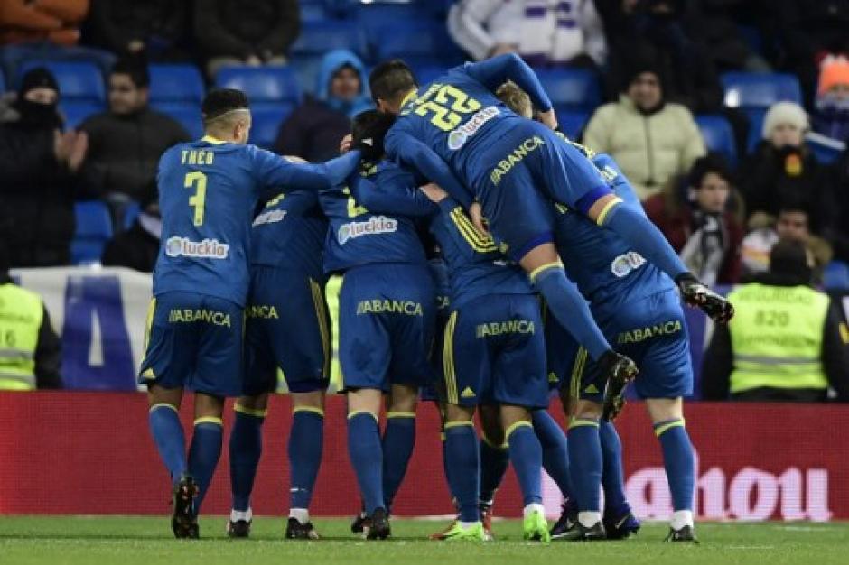 El Celta dio el primer golpe en la Copa frente al Madrid en el Bernabeu.  (Foto: AFP)