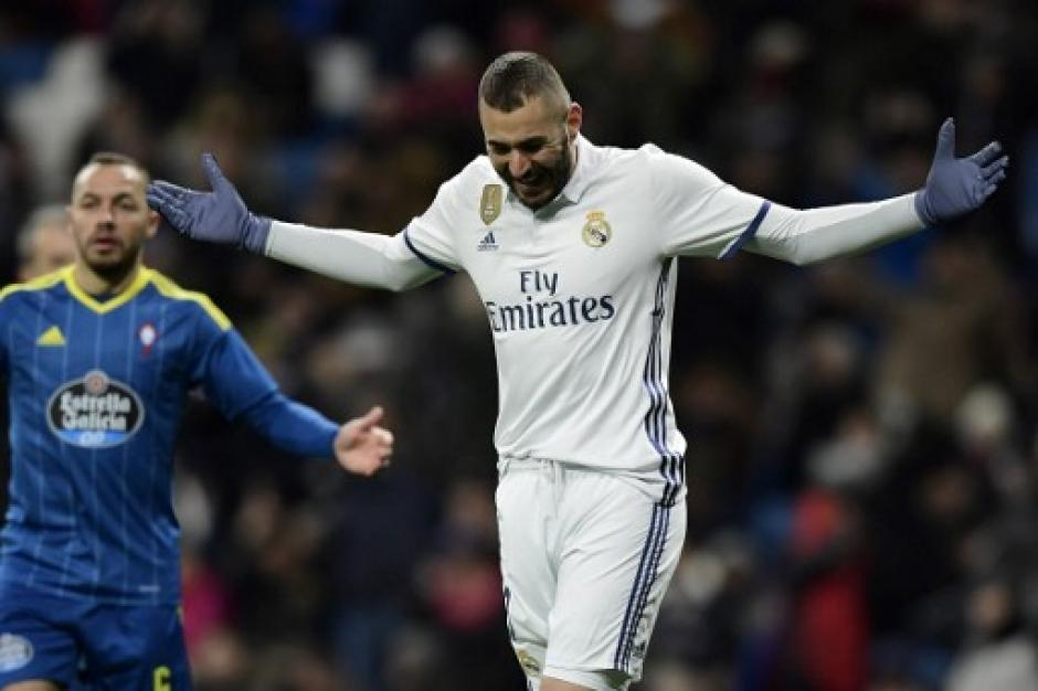 Benzema jugó unos minutos pero no pudo anotar. (Foto: AFP)