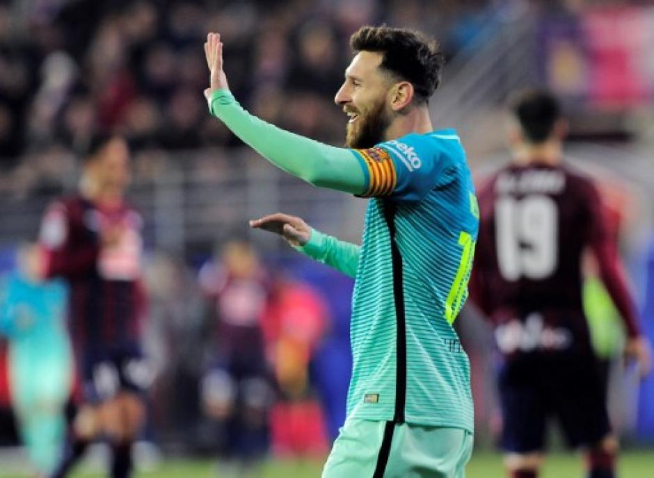 Lionel Messi volvió a anotar para el Barcelona. (Foto: AFP)