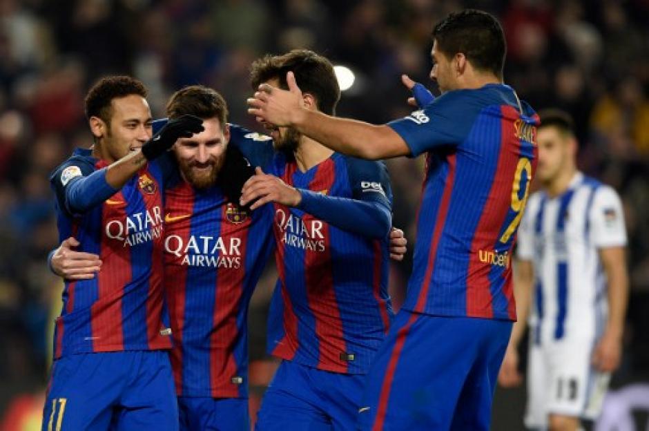 El Barcelona elimina sin problemas a la Real Sociedad. (Foto: AFP)