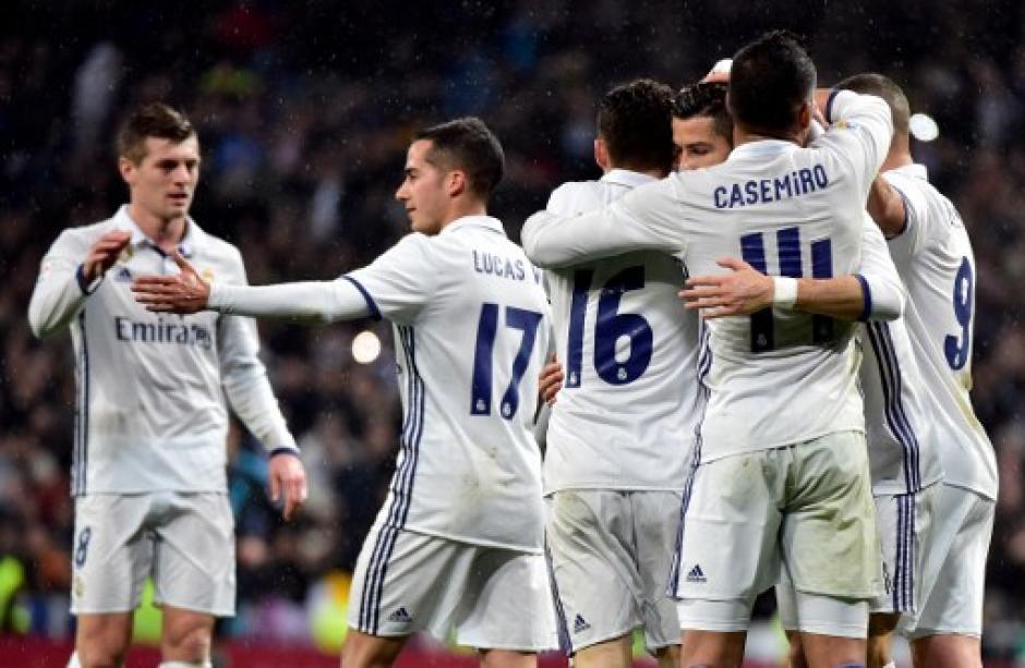 El Madrid festejó una victoria en La Liga tras quedar eliminado de la Copa del Rey. (Foto: AFP)