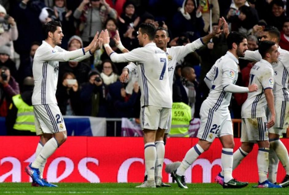 Morata anotó el tercero y definitivo para el Real Madrid. (Foto: AFP)