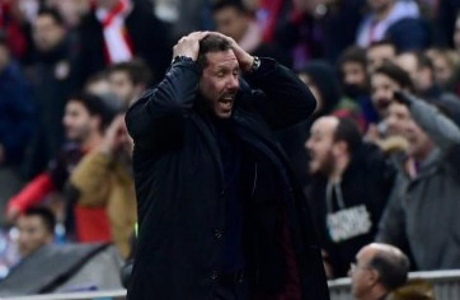 Simeone no lo podía creer.  (Foto: AFP)