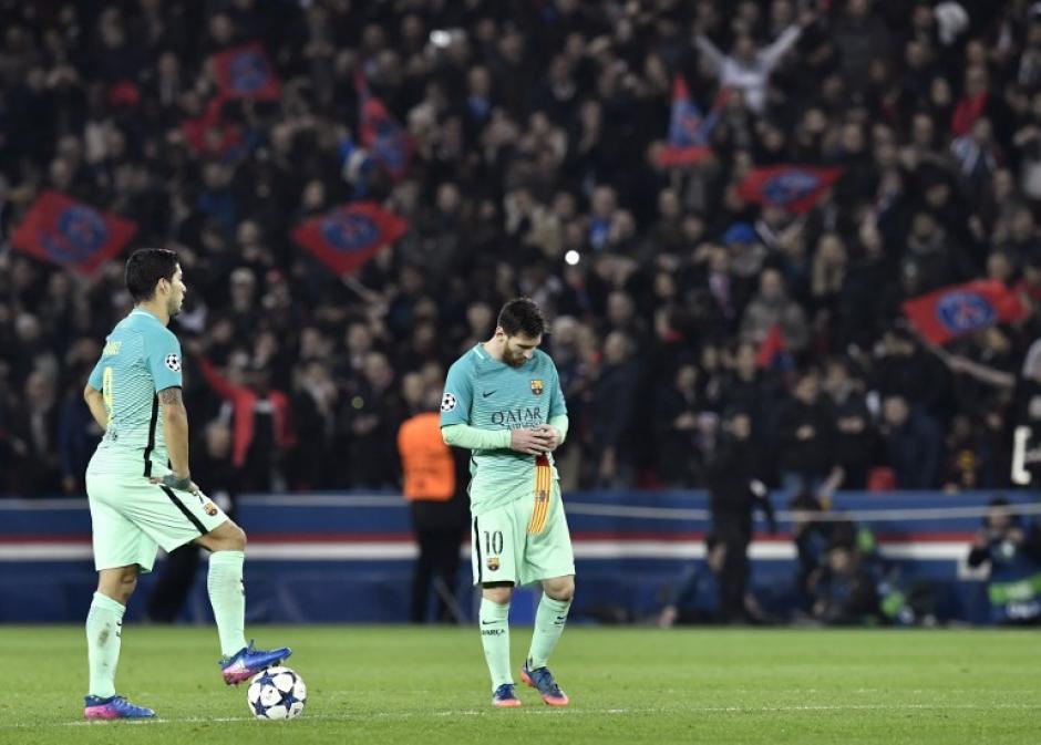 Los atacantes catalanes no pudieron vulnerar la portería del PSG. (Foto: AFP)