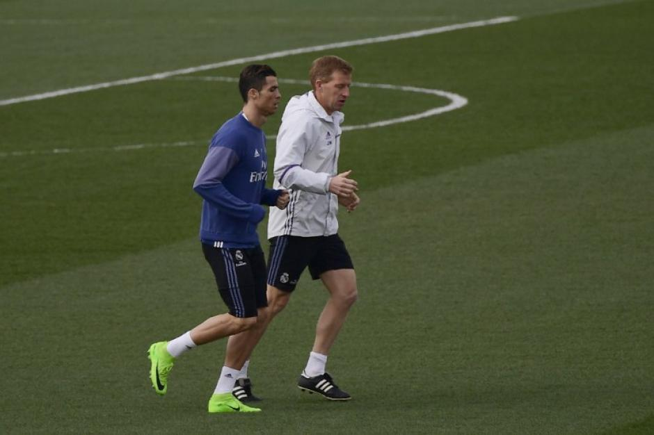 Cristiano Ronaldo se entrenó por separado este viernes. (Foto: AFP)