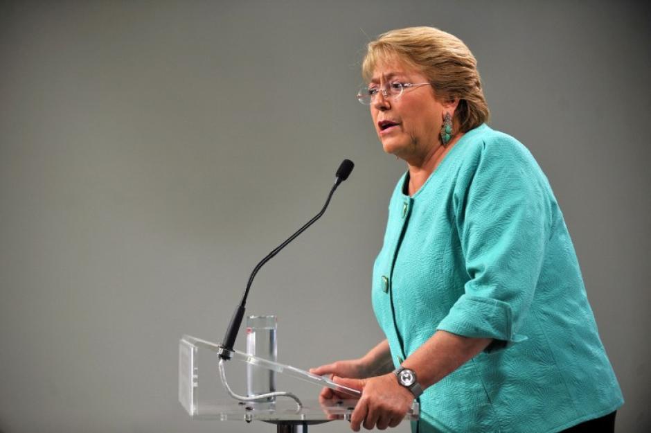 Michelle Bachelet hizo historia al ser reelecta como presidenta de Chile. (Foto: AFP)