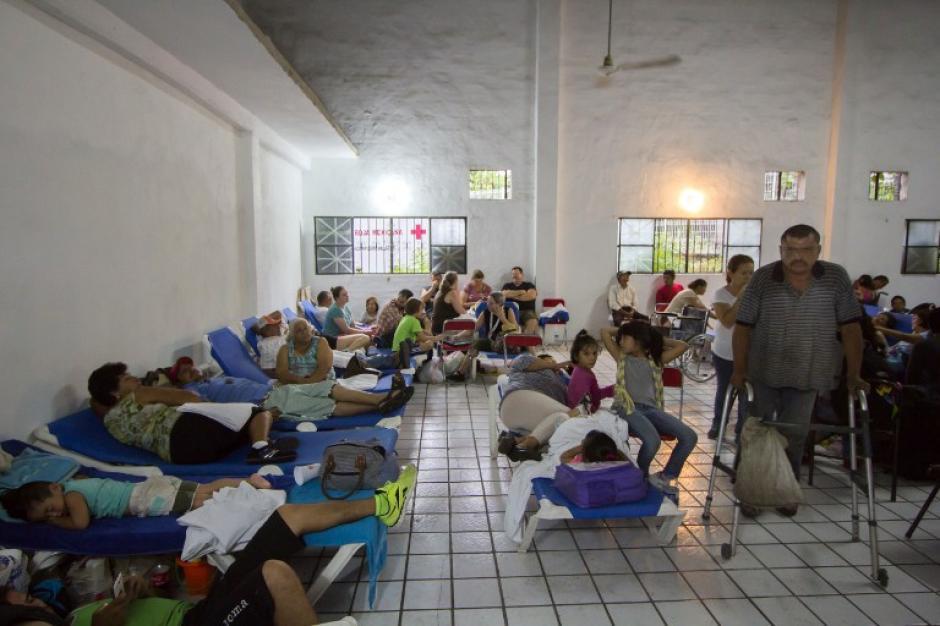 Varios albergues fueron habilitados para los afectados por las fuertes lluvias. (Foto: AFP)