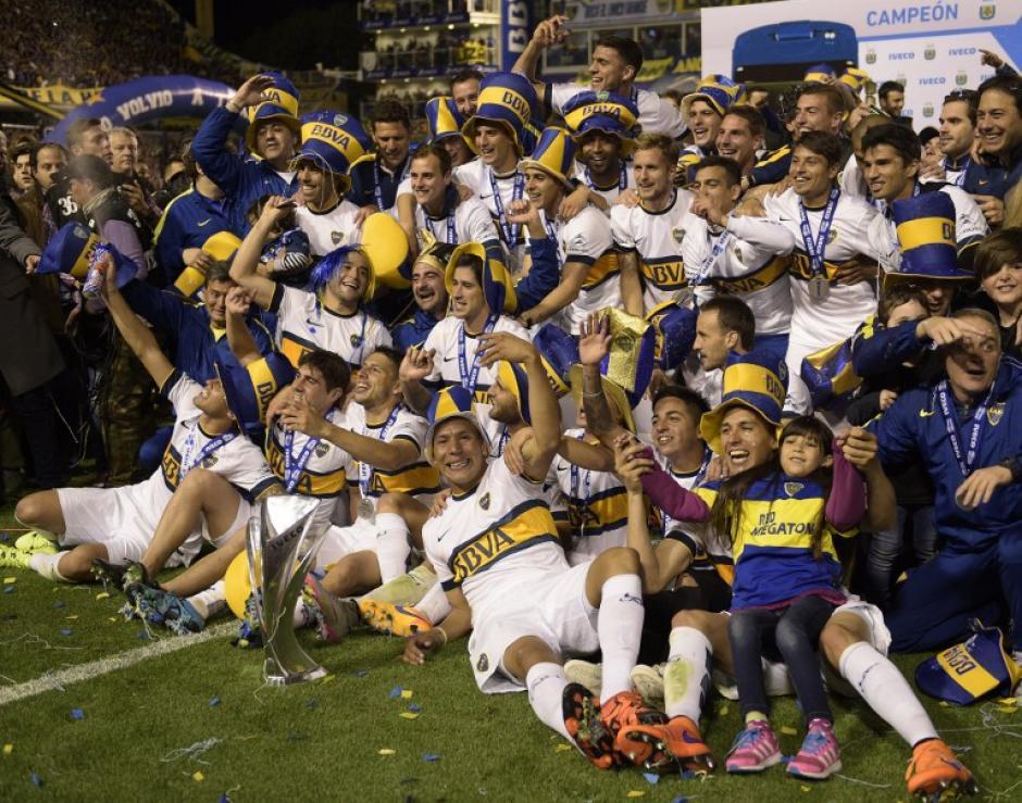 Boca Juniors se convirtió en el campeón de la máxima liga de fútbol de Argentina de manera anticipada. (Foto: AFP)