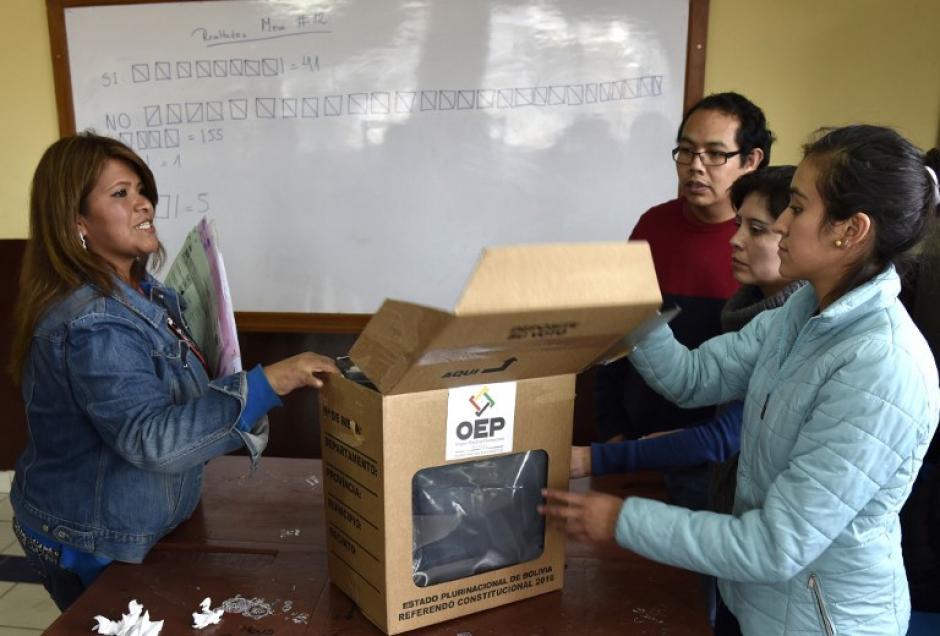 """El referendo da un rotundo """"No"""" a Evo Morales para la reelección. (Foto: AFP)"""