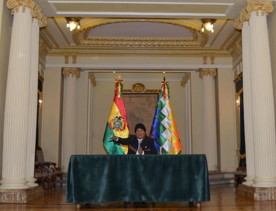 El mandatario boliviano dio conferencia de prensa en la Casa Presidencia. (Foto: AFP)