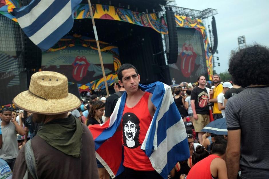 Los admiradores de los Rolling Stones están listos para el concierto histórico en La Habana. (Foto: AFP)