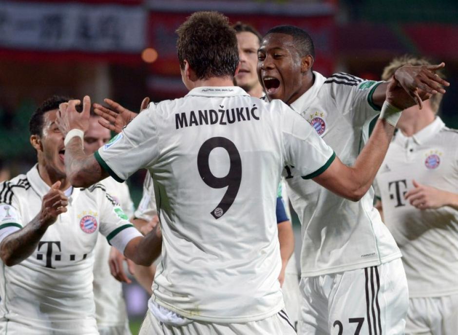 El Bayern Munich consiguió un importante triunfo en el Mundial de Clubes 2013. (AFP)