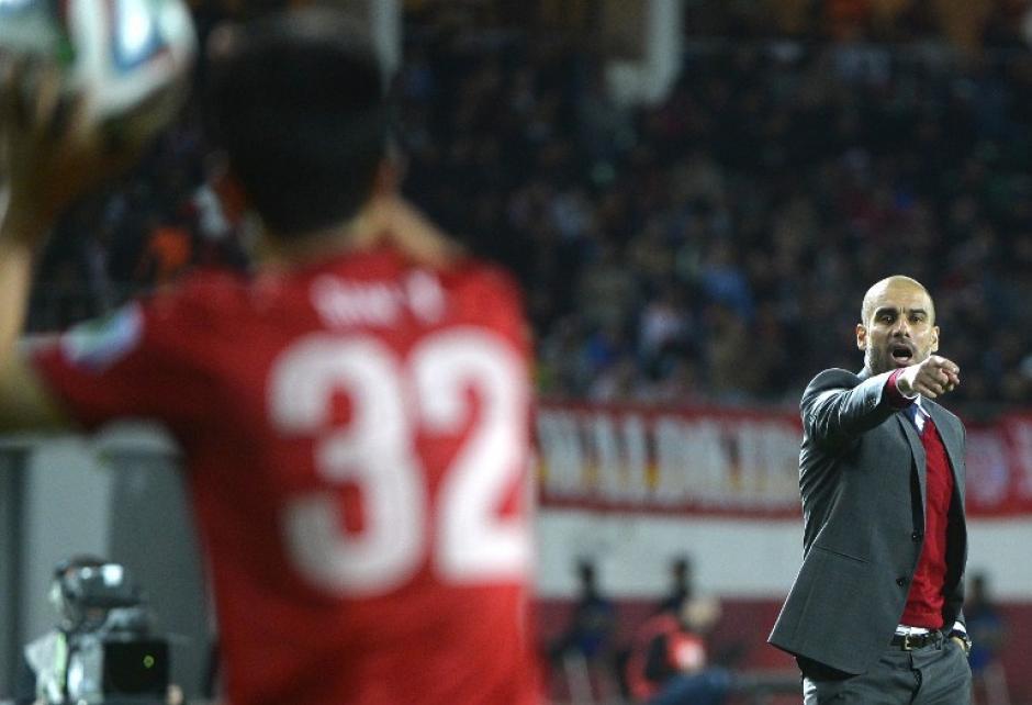 Pep Guardiola técnico del Bayern Munich buscará nuevamente el título del Mundial de Clubes. (AFP)