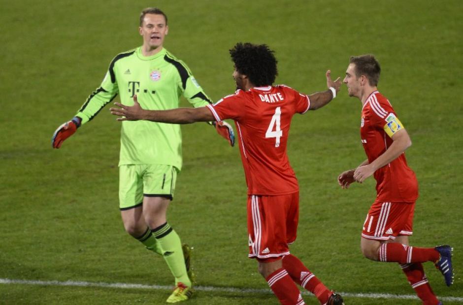 Dante fue el anotador del primer gol del conjunto alemán en la final del Mundial de Clubes. (Foto: AFP)