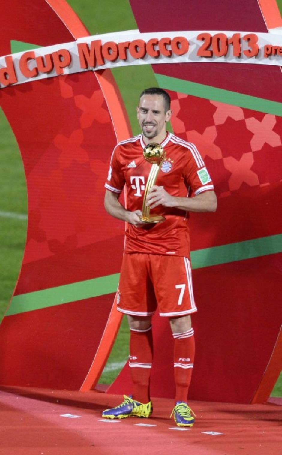 Ribéry fue el más valioso del Mundial de Clubes. (Foto: AFP)