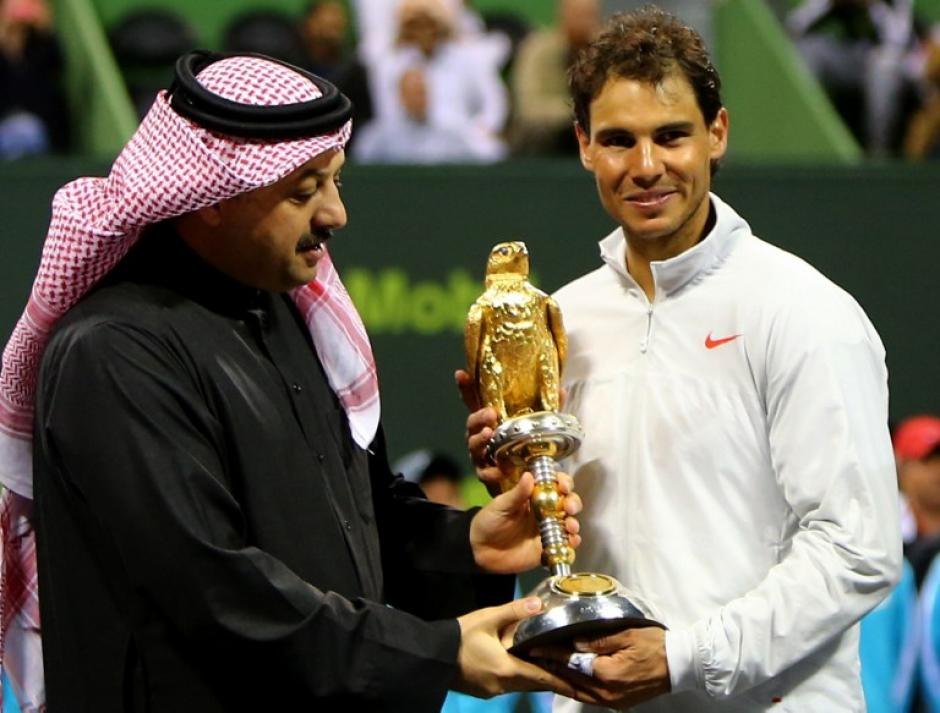Esta es una especie de revancha para el tenista español, que había tenido sus dos únicas derrotas ante Monfils en el torneo de Doha, donde Nadal cayó ante el galo en las semifinales del año 2012 y en los cuartos de final del 2009. Foto AFP