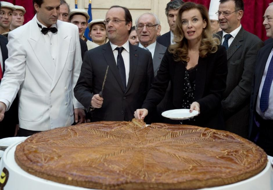 El presidente de Francia, Francois Hollande y su actual pareja Valerie Trierwiler de 48 años. Foto AFP
