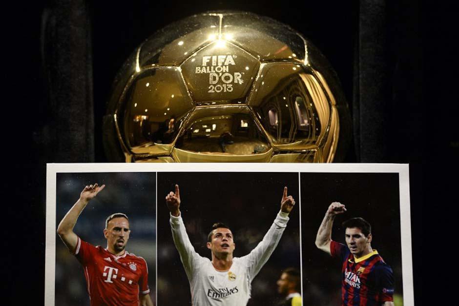 Franck Ribery, Cristiano Ronaldo y Lionel Messi son los finalistas que sabrán mañana quien se queda con el Balón de Oro 2013