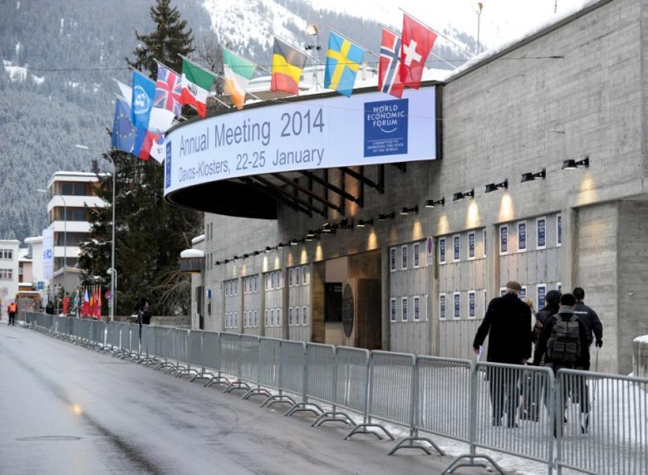 Esta es la sede donde se realiza el foro económico mundial, en el centro de ski de Davos en Suiza. Foto AFP
