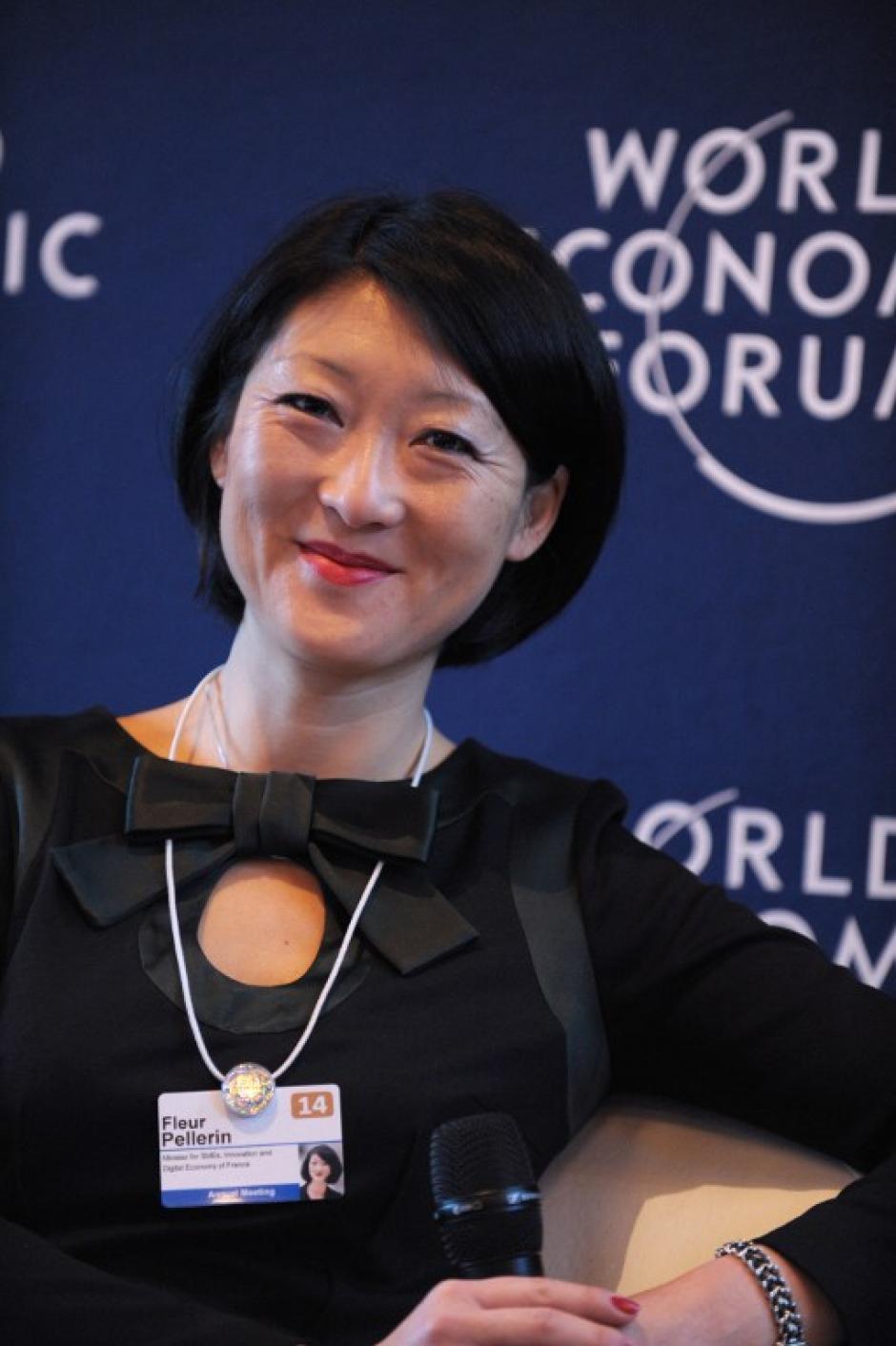 """Fleur Pellerin, la """"estrella"""" de la política francesa. Es la Ministra de Innovación y Economía. Foto AFP"""