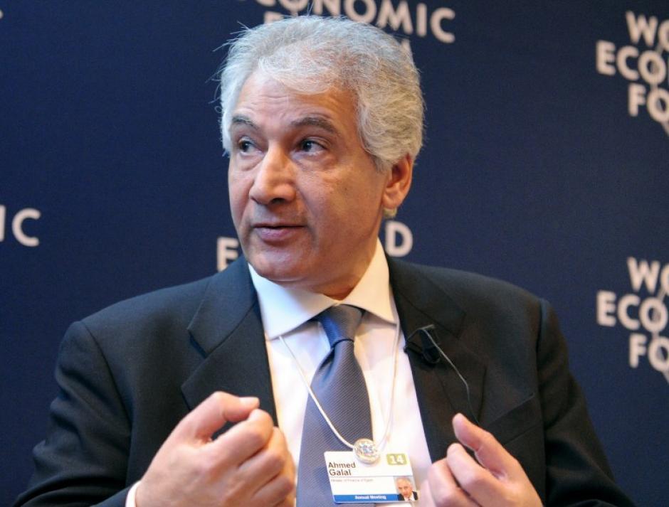 """El ministro de Finanzas de Egipto, Ahmed Galal quien participó en el panel """"El contexto del mundo árabe"""". Foto AFP"""