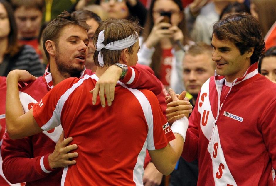 Roger Federer, Copa Davis 2014, Suiza, Abril
