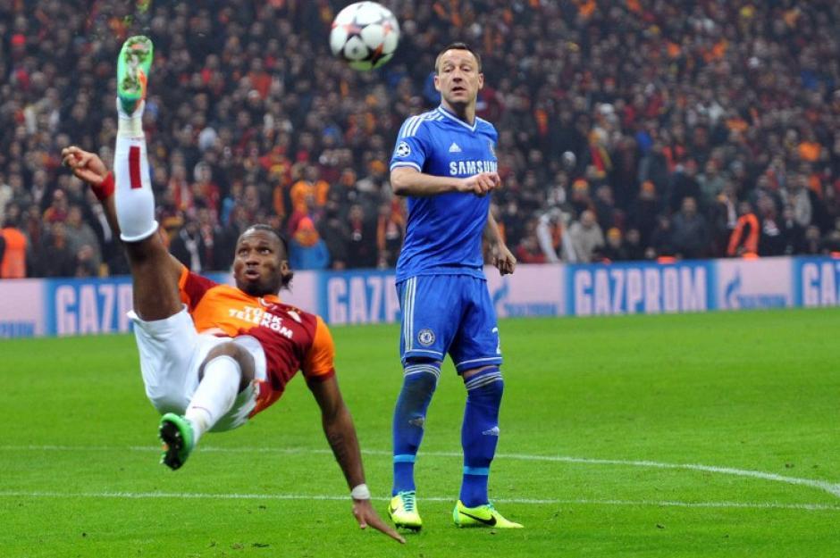 Drogba se enfrentó a su ex equipo, con el que ganó una Champions. (Foto: AFP)