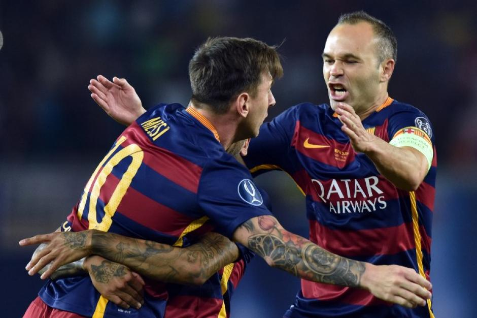 Iniesta y Messi volvieron a carburar para el Barcelona. (Foto: AFP)