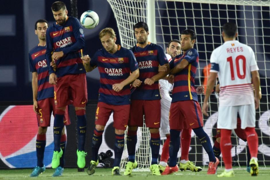 Durante los noventa minutos reglamentarios entre el Barcelona y el Sevilla hubo 8 goles, de los cuales la mitad fueron a balón parado