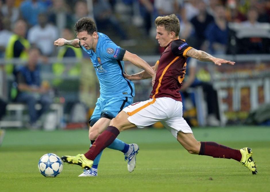 Lionel Messi disputó su partido 100 en Champions League, no tuvo su mejor actuación y pesó poco en la ofensiva de Barcelona. (Foto: AFP)