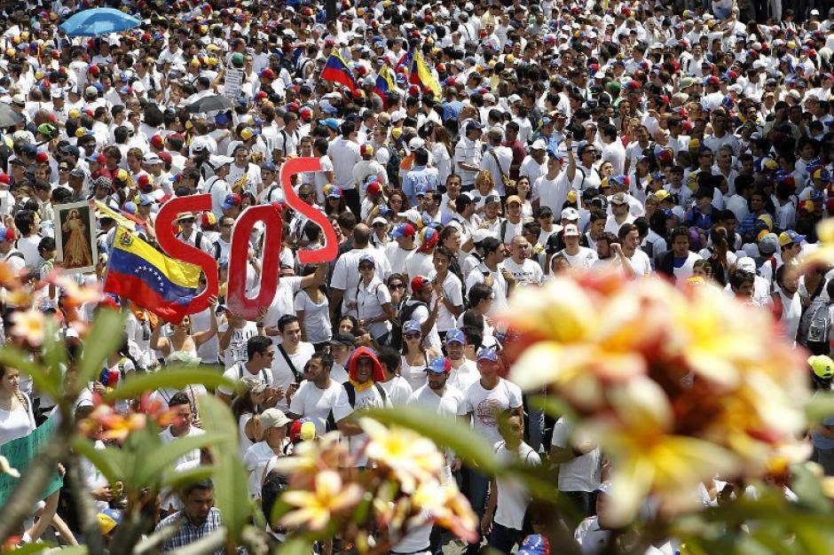 Estudiantes y sociedad civil anunciaron que acomparán a Leopoldo López al Palacio de Justicia. Foto:AFP