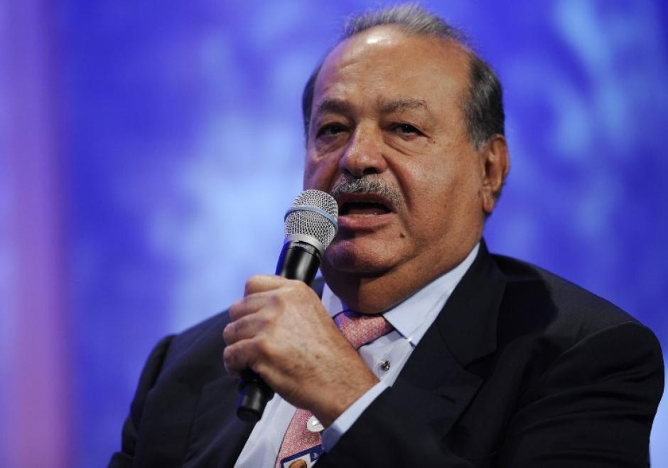 El hombre más rico del mundo, Carlos Slim, no puede faltar en el listado, pues su negocio de telecomunicaciones sigue creciendo a nivel mundial. (Foto: AFP)