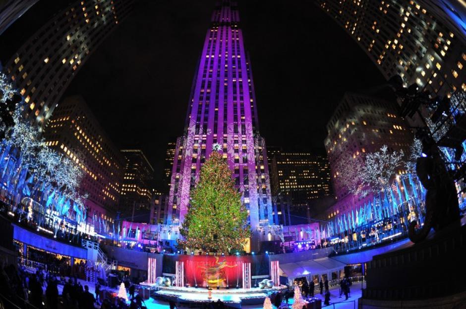 El Árbol Navideño del Rockefeller Center, de Nueva York, es majestuoso. (Foto: AFP)