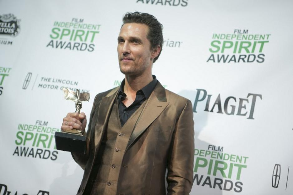 """Matthew McConaughey recibió el premio a mejor actor por su actuación en""""Dallas Buyers Club"""" (Foto: AFP)"""