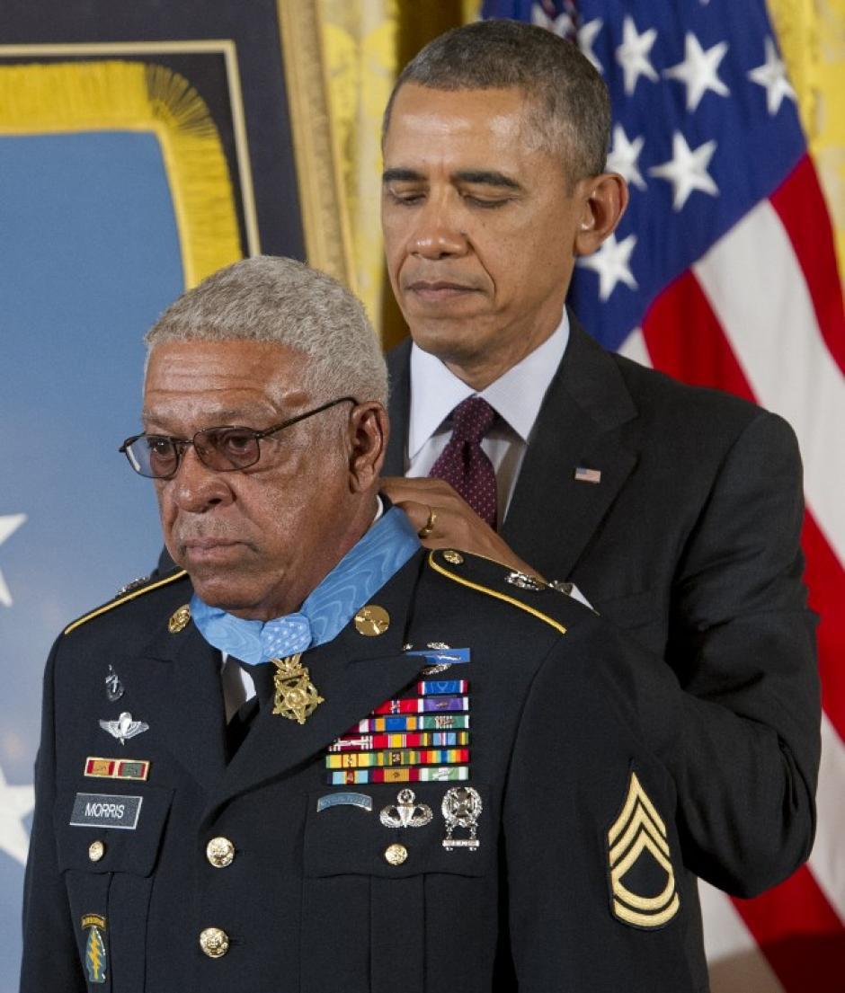 El veterano Melvin Morris (Foto: AFP)