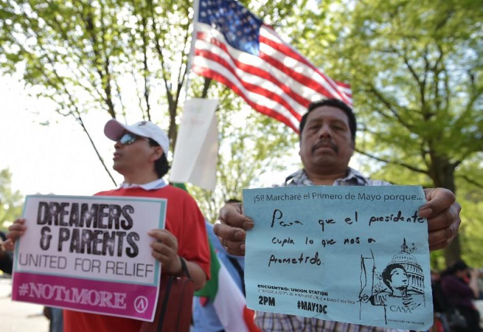 Las marchas llegaron a la Casa Blanca y al Capitolio. (Foto:AFP)