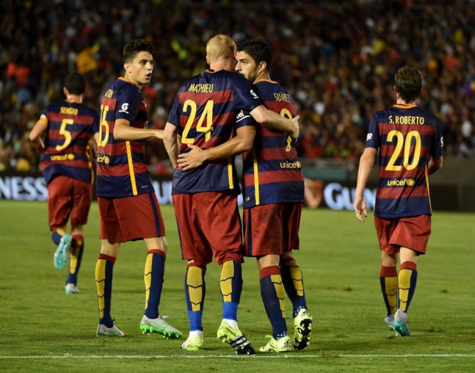 El Barcelona derrotó al Galaxy durante el primer juego de su gira por Estados Unidos. (Foto: AFP)