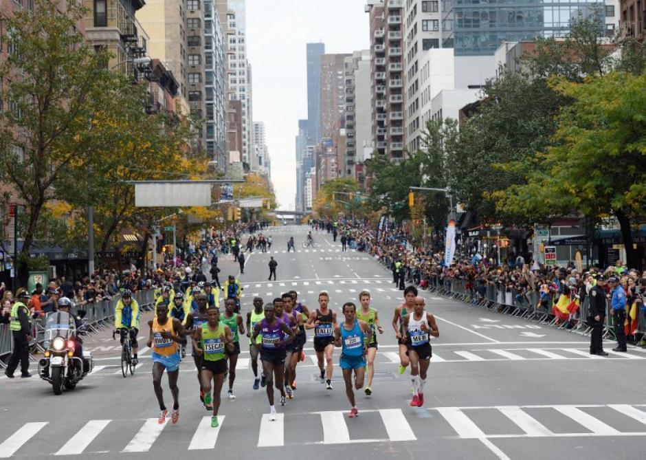 Corredores en las calles de Nueva York. (Foto: AFP)