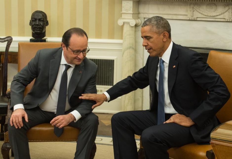 El presidente de Estados Unidos Barack Obama y el presidente de Francia,Francois Hollande se reunieron este martes en la Casa Blanca. (Foto: AFP)