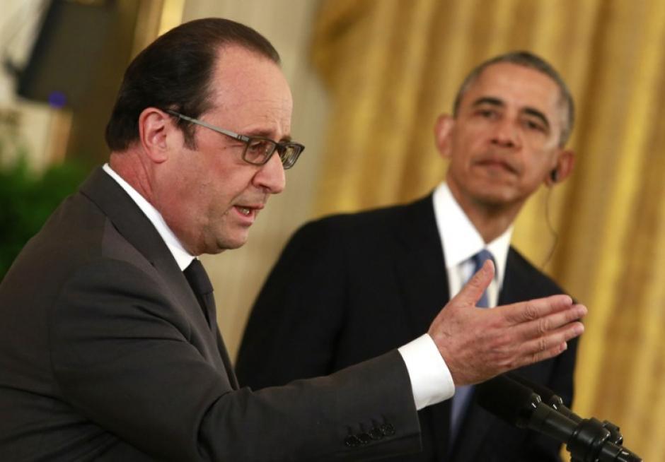 Los presidentes de Estados Unidos y Francia se reunieron para acordar estrategias contra el Estado Islámico. (Foto: AFP)