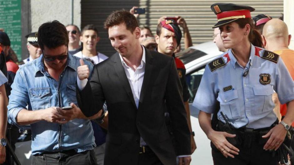 Leonel Messi al juzgado foto