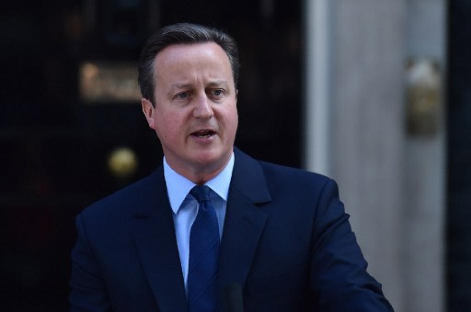 El primer ministro británico, David Cameron, informó sobre sus intenciones de renunciar al cargo. (Foto: AFP)