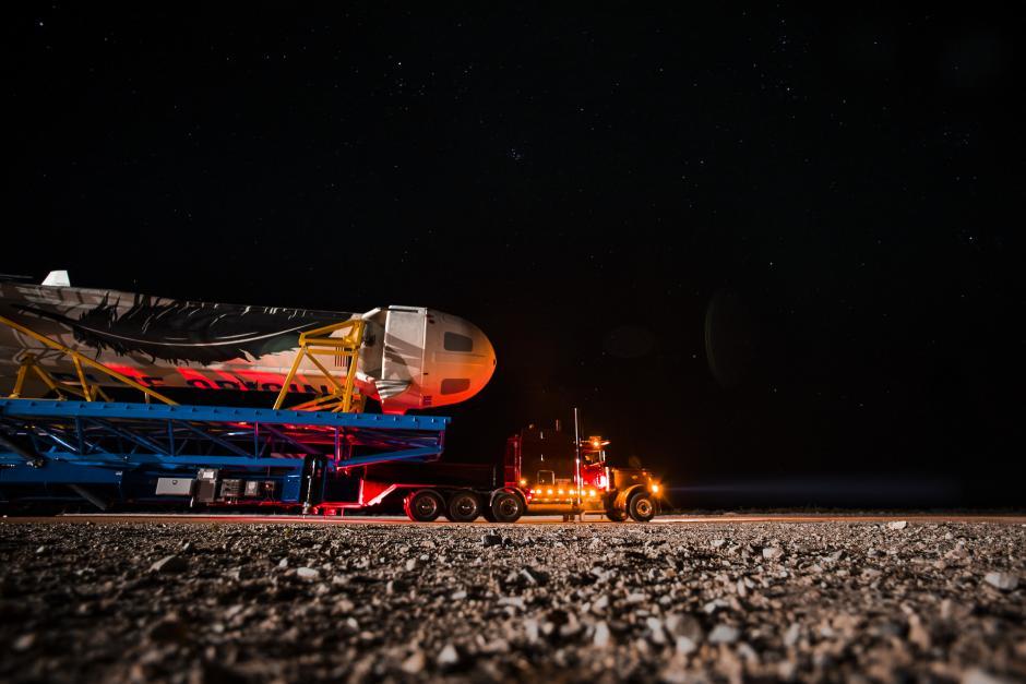 El cohete transportado antes de su despegue. (Foto: Blue Orbit)