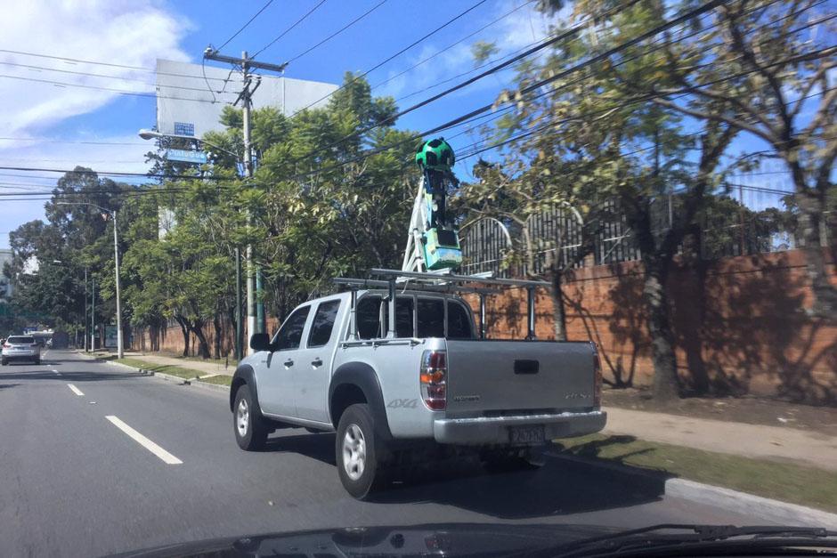 Google Street View ya está recorriendo las calles de Guatemala. (Foto: Twitter/Rodrigo Polo)