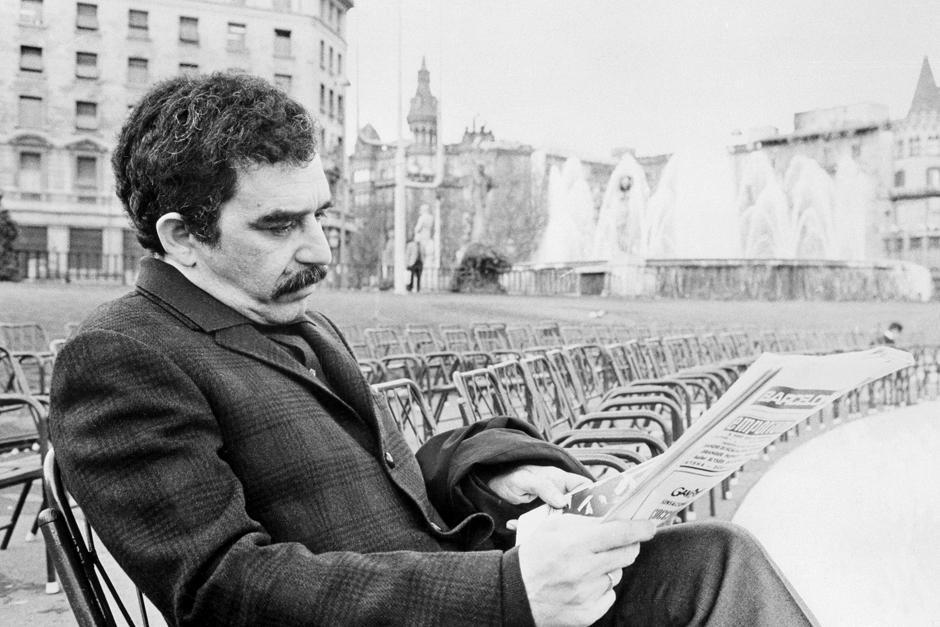 Una fotografía de archivo durante una de las pocas entrevistas que el célebre escritor dio, la imagen fue capturada en 1970 (Foto: EFE)