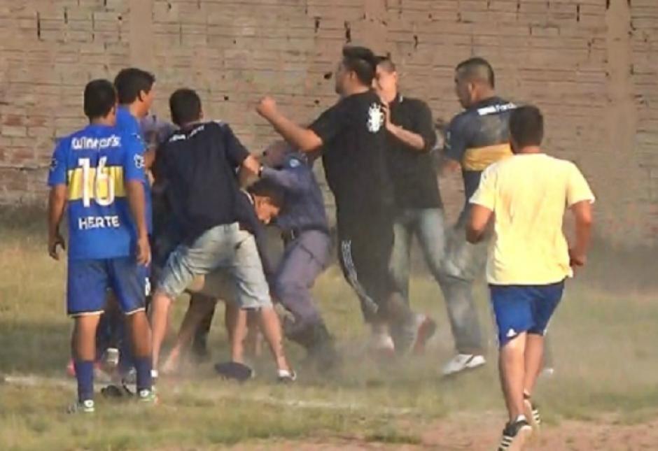 En bochorno terminó un partido de fútbol de cancha abierta. (Foto: portal Primicias Clorinda)
